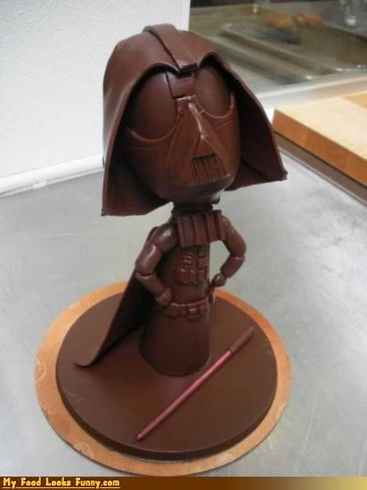 chocolate dark chocolate darth vader sculpture star wars Sweet Treats vader - 4170628352