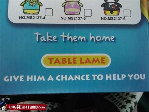 chance,lame,table