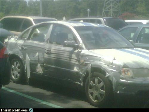 car,duct tape,repair