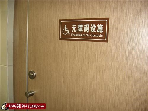 bathroom door engrish handicapped - 4170967040