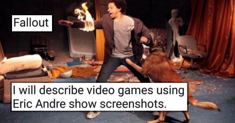 Guy Uses Eric Andrew Screenshots to Describe Video Games and the Results Are Ridiculous