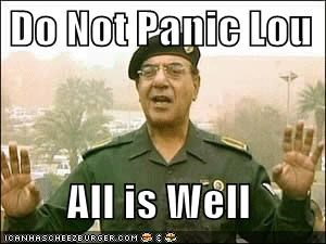 Do Not Panic Lou All Is Well Cheezburger Funny Memes Funny