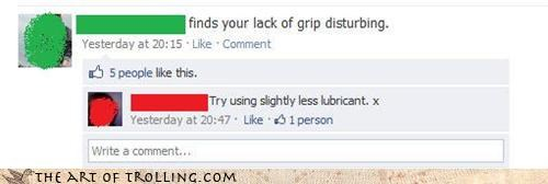facebook grip innuendo lubricant smooth