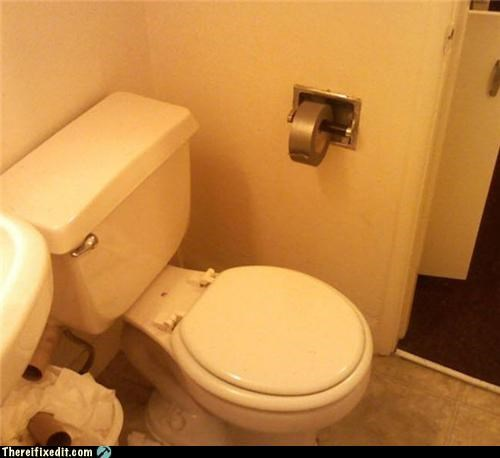 bathroom,duct tape,toilet paper