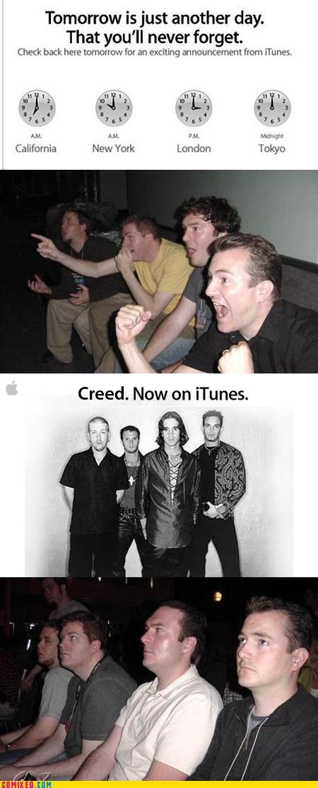 apple beatles computers creed iTunes Music reaction guys rick roll - 4172323840