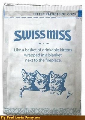 cocoa,drink,drinkable kittens,hot chocolate,hot cocoa,kitten,packaging,Sweet Treats,swiss miss