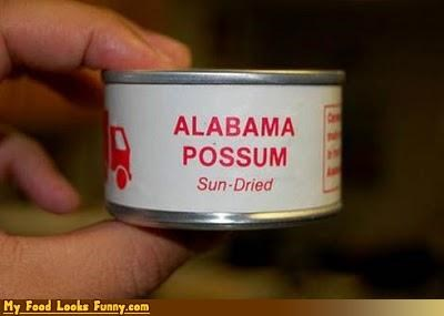 Alabama alabama possum canned meat cans funny meat mystery meat possum