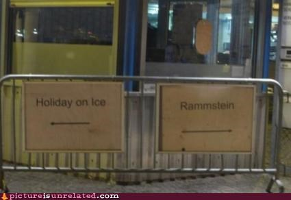 cool show entertainment holiday on ice rammstein signs wtf