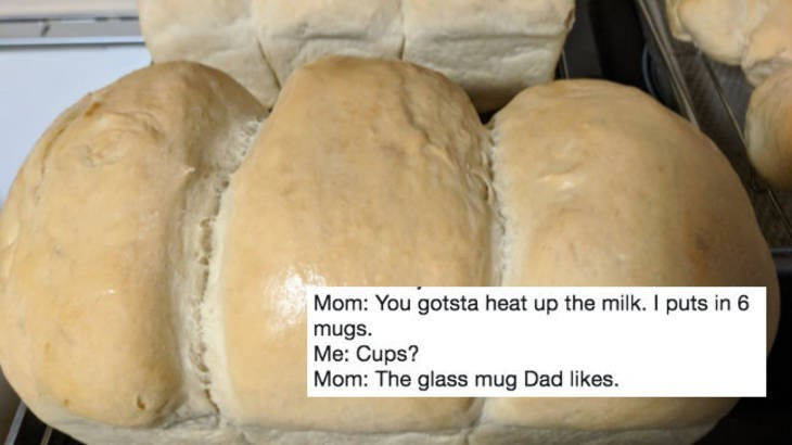 hilarious instructions women gives her daughter for bread
