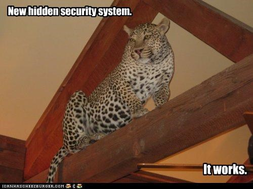 New hidden security system. It works.