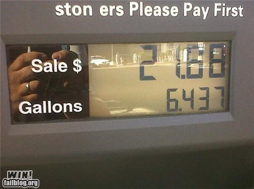 gas station hacked play on words - 4173680384