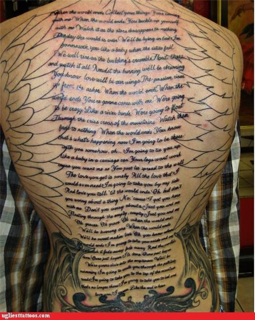 back pieces,songs and song lyrics,words