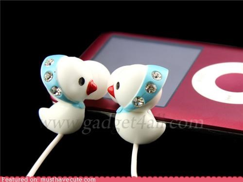 accessory covers decorative duckies earbuds gadget headphones sparkly - 4174191872