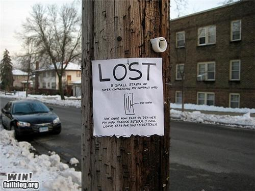 art clever lost sign - 4174292480