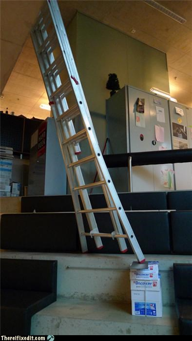dangerous,ladders,Professional At Work
