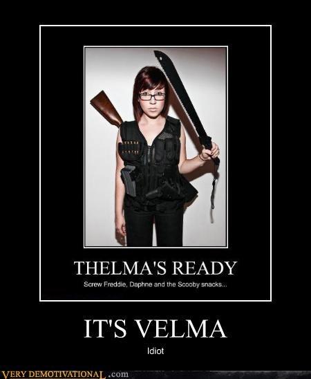 babe epic guns idiots machete scooby doo velma - 4174831360