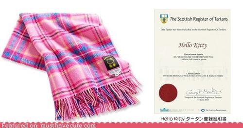 cute-kawaii-stuff hello kitty tartan blanket - 4175417600