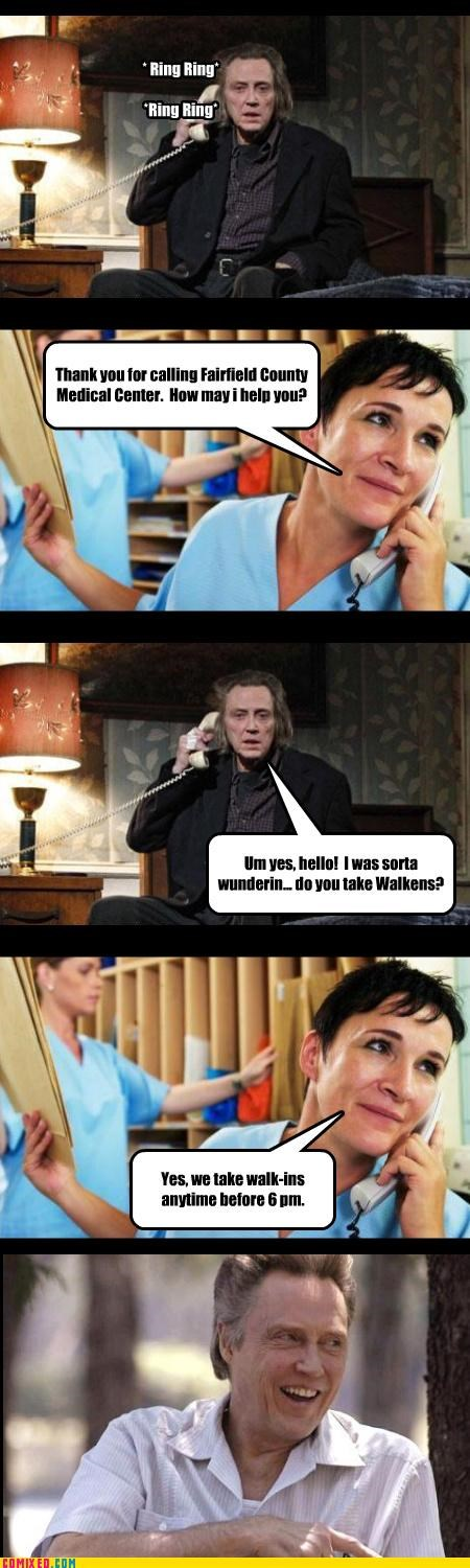 celebutard,christopher walken,cowbells,fever,healthcare,puns