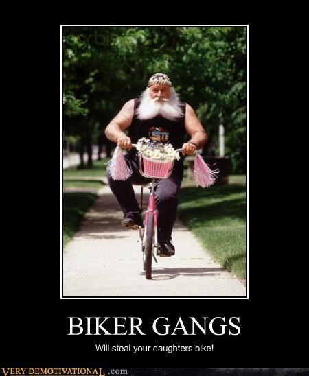 bikers bikes funny stealing thief - 4176168192