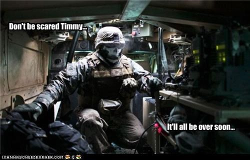 Don't be scared Timmy... It'll all be over soon...
