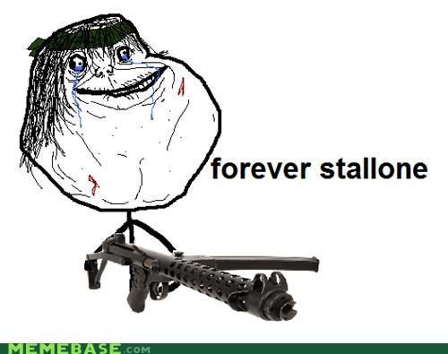 forever alone Memes stallone - 4176646144