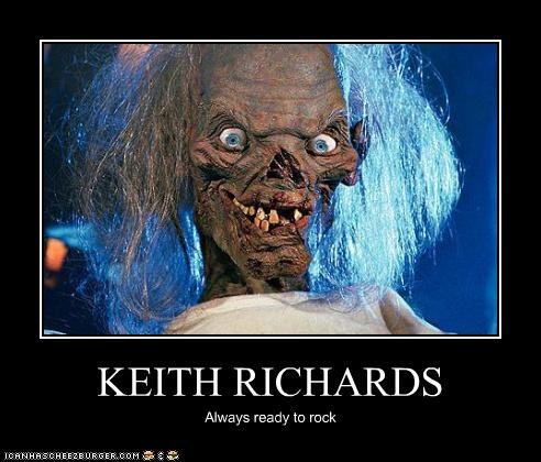 demotivational funny Keith Richards The Crypt Keeper - 4176976640