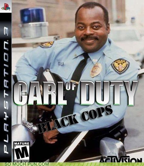 activision black cops black ops call of duty carl cops inb4 photoshop racist rhyme video game - 4177054976