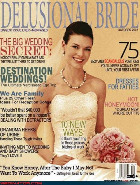 bride fake bridal magazine funny wedding photos graphic design project FAIL surprise the kanye west of bridal magazines unfunny bridal magazine wtf - 4177158912