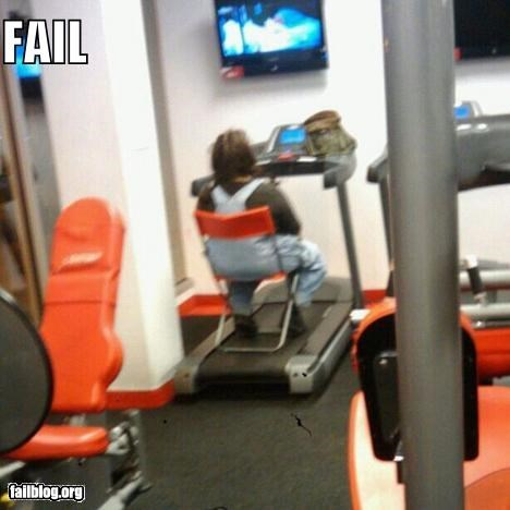 Tredmill Fail What's the point of going to the gym if this is how you work out?