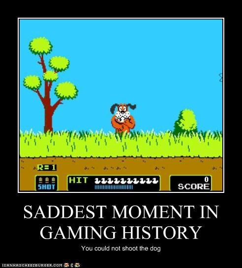 SADDEST MOMENT IN GAMING HISTORY You could not shoot the dog