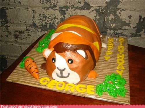 cake epicute George GPig guinea pig hairpiece pig toupee - 4177741824