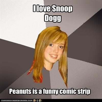 Musically Oblivious 8th Grader peanuts snoop dogg snoopy - 4177791232