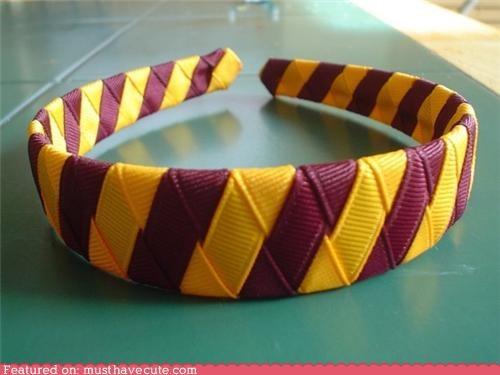 accessory beauty gryffindor Harry Potter headband ribbon stripes - 4178108416