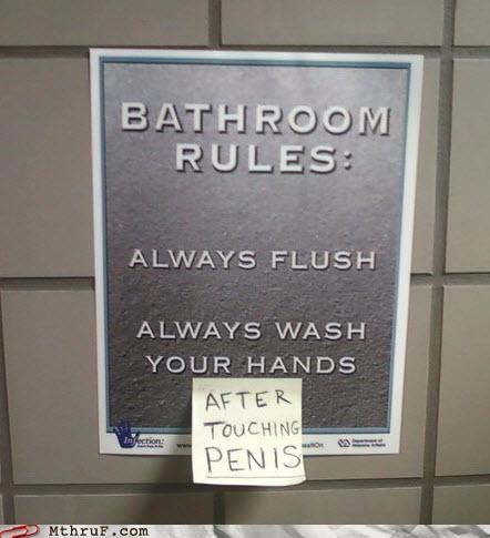 bathroom penis penis humor penis joke wash hands - 4178220800