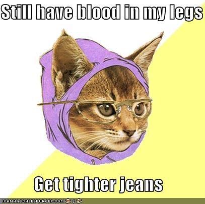 Hipster Kitty legs Memes skinny jeans - 4178694400
