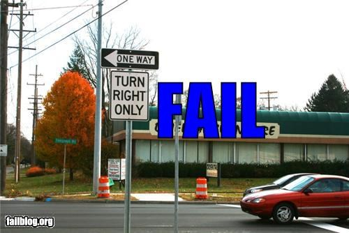 confusing,failboat,g rated,one way,right turn only,signs,traffic