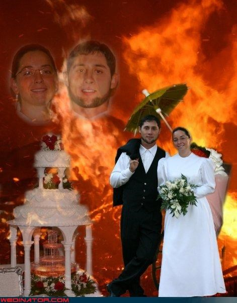 bad photoshop job,Crazy Brides,crazy groom,crazy photoshopped wedding photo,fashion is my passion,fiery gates of hell,funny photoshopped wedding picture,funny wedding photos,photoshop,photoshopped wedding picture,technical difficulties,were-in-love,Wedding Themes,wtf