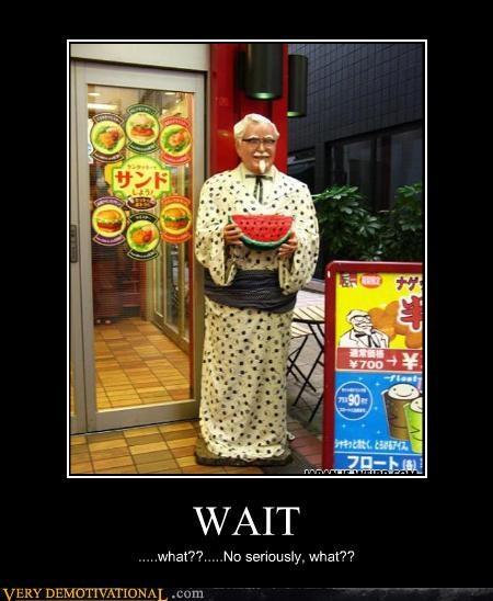 fried chicken Hall of Fame Japan kfc racism watermelon wtf - 4179921152