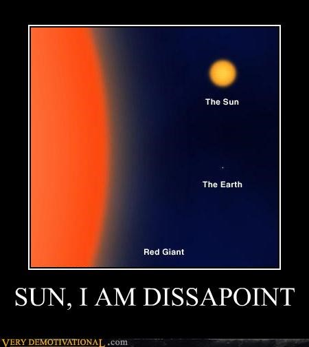 disappoint earth galaxy red giant space sun universe
