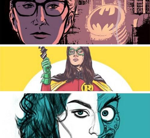 dc comics fan art superheroes genderbend gender swap batman robin bruce wayne jason todd joker red hood poison ivy fan cast actors