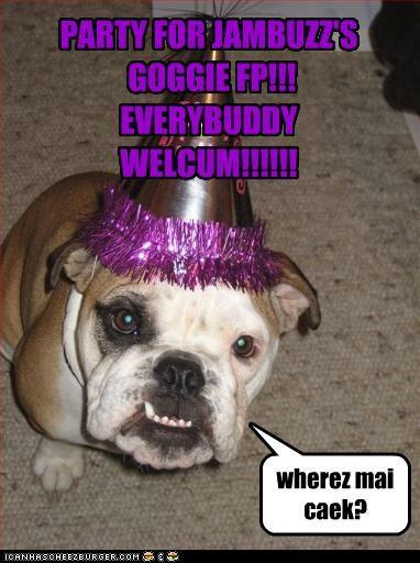 PARTY FOR JAMBUZZ'S GOGGIE FP!!! EVERYBUDDY WELCUM!!!!!! wherez mai caek?