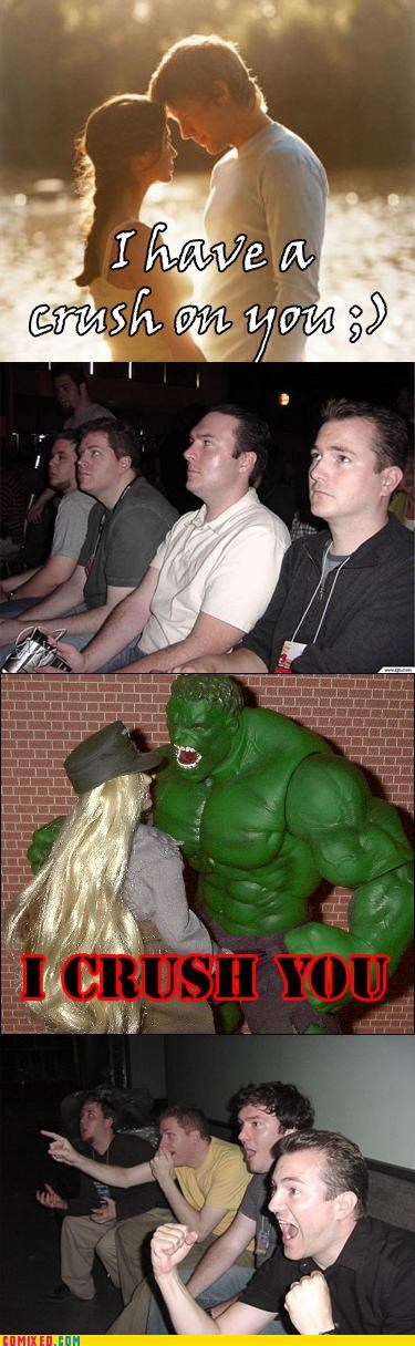 comics crushes feelings hulk love miscommunication puns reaction guys - 4180679168