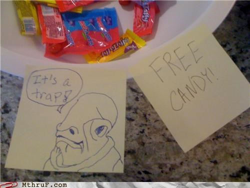 ackbar candy free its a trap star wars