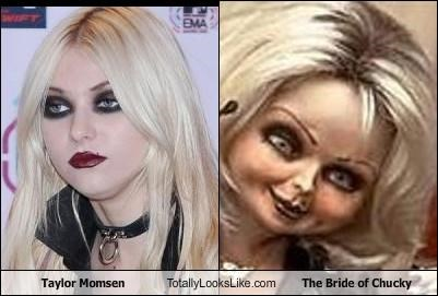 Bride of Chucky dolls Hall of Fame singers taylor momsen