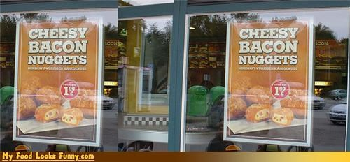 burger king cheese cheesy bacon nuggets fast food nuggest nuggets snacks - 4182059776