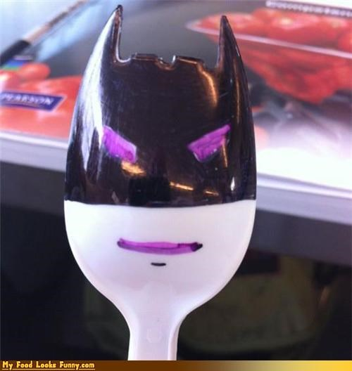 batman movies spoon spork superheros the dark knight utensils