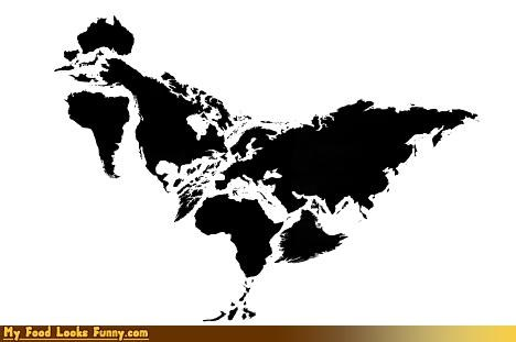 chicken continents earth map meat pangaea world - 4182067200