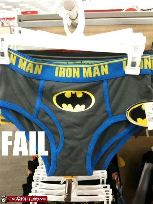 batman,iron man,superhero underwear