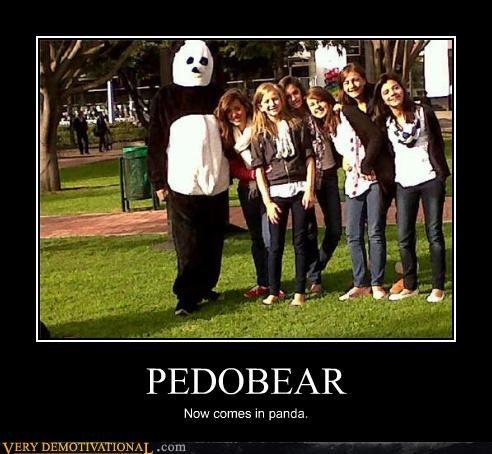 animals bear costume panda pedobear scary - 4184489984