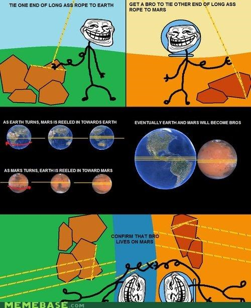 Memes,mission to mars,troll science